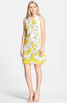 Diane von Furstenberg 'Samantha' Floral Print Shift Dress available at #Nordstrom