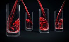 Glass with Red Liquid  Software Used:   3D Studio max, Real Flow, V-Ray, Photoshop