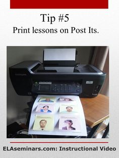 Simply attach Post Its to paper, type text or add a photo, and print. English Teachers, English Classroom, Teaching English, Instructional Technology, Educational Technology, Teaching Writing, Teaching Tips, Teacher Tools, Teacher Resources