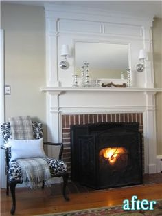 Wall sconce over fireplace in family room/ livingroom | Lighting ...