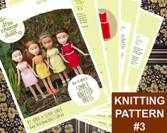 Tree Change Dolls® Knitting Pattern #3 Simple Knitted Dress, by Sonia and…