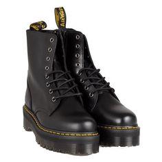 DR MARTENS Quad Retro Jadon biker boots ($256) ❤ liked on Polyvore featuring shoes, boots, black, footwear, leather engineer boots, moto boots, black moto boots, black engineer boots and engineer boots
