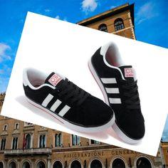 Adidas Originals Stile NEO Scarpe da Uomo Nero/Rosso
