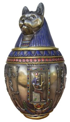 ✯ Goddess Bast Jar - Egyptian✯ (would like to make this from clay or Alabaster)