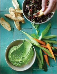 Super Healthy Kids shares the INCREDIBLY EDIBLE EDAMAME DIP from The Blender Girl cookbook. This is so delicious and you just throw everything into your Vitamix and devour. People swoon over this recipe. YUM!