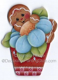 Flower Pot Ginger ePattern by Pamela House - PDF DOWNLOAD…