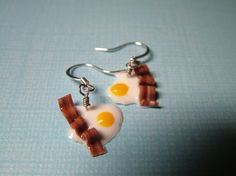 These yummy earrings are so cute. I'm thinking they're perfect for that 4 am visit to the dinner with friends $5.00 by Heathernwells on Etsy