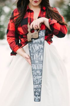Christmas Tree Farm Wedding Inspiration with Tradition - photo by Alicia King Photography http://ruffledblog.com/christmas-tree-farm-wedding-inspiration-with-tradition