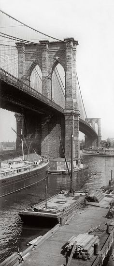 Brooklyn Bridge. New York City, New York. 1896.