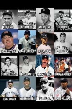 Some Yankee players who we remember .