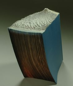 Carved Up Book Becomes a Volcano