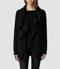 8fdb2ad6a8 Buy AllSaints Dahlia Sweatshirt, Black from our Women's Shirts & Tops range  at John Lewis & Partners.