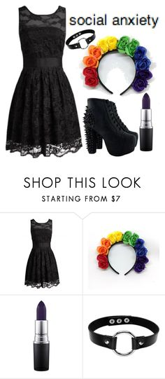"""""""..."""" by anjalenabvb on Polyvore featuring MAC Cosmetics personally would get rid of the hair band"""