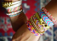 every diy bracelet i have seen on pinterest....all at once