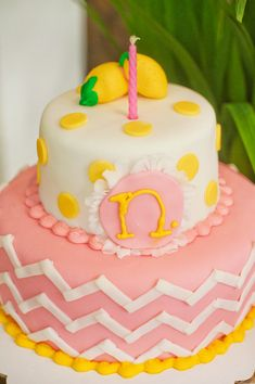 A Pink Lemonade Garden Birthday Party By Hostess With the Mostess Baby First Birthday, First Birthday Parties, First Birthdays, Birthday Ideas, Summer Birthday, 13th Birthday, Cake Pops, Pink Lemonade Cake, Lemon Party