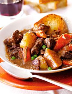 Ina Garten's Beef Stew - This is very salty. Reduce the salt in any way that you can while cooking and add the salt later.