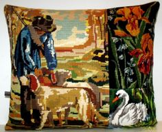 UNIQUE French Vintage Needlepoint Tapestry Hunter by Retrocollects, £40.00