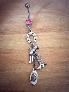 Country Girl Belly Ring pistol belly ring by CountryOutlawDesigns