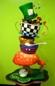 Alice in Wonderland cake!!