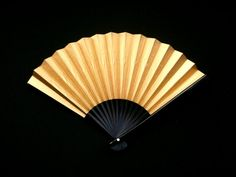 Gold Silver Hand Fan Japanese Vintage Paper by VintageFromJapan