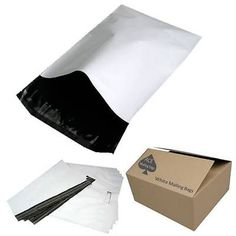 #Mailing bags - quality smooth white poly bags - plastic #packaging black #interi,  View more on the LINK: http://www.zeppy.io/product/gb/2/321650408683/