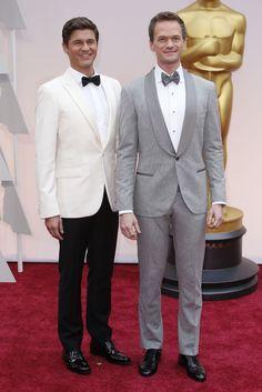 Red Carpet Watch: Oscars 2015 - NYTimes.com   Neil Patrick Harris and David Burtka  Mr. Harris in Brunello Cucinelli.