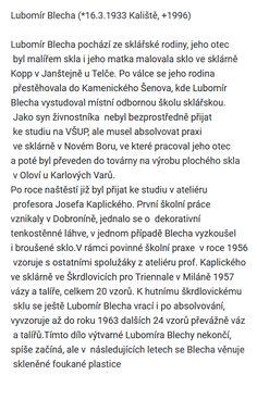 Lubomír Blecha Artist At Work, Czech Glass, Words, Horse