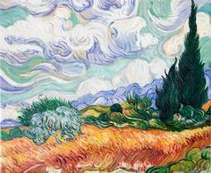 Weizenfeld mit Zypressen von Vincent van Gogh