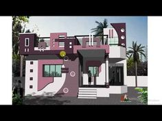 House Paint Design, Home Stairs Design, 3d Home Design, House Design Photos, New Home Designs, Village House Design, Kerala House Design, Village Houses, Single Floor House Design