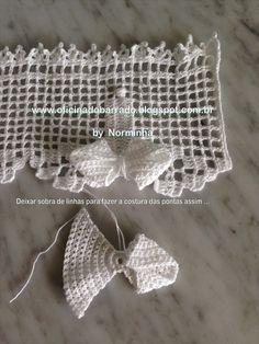 Resultado de imagem para edging for closet crochet Crochet Dollies, Crochet Lace Edging, Crochet Fabric, Crochet Borders, Freeform Crochet, Thread Crochet, Irish Crochet, Crochet Hooks, Crochet Patterns
