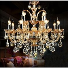 Chandeliers Crystal Modern  Contemporary  Traditional  Classic Living Room  Bedroom  Dining Room  Study Room  Office Glass 12 Lights