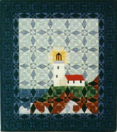 QDNW Light in the storm - lighthouse quilt pattern