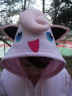 POKEMON Inspired JigglyPuff  Hoodie for Adults by PoppityPop, $55.00