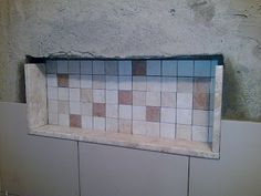 Como dar acabamento para o nicho do banheiro (pastilhas, pedra, mármore, silestone, etc) - Casa e Reforma