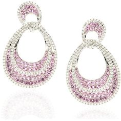 White and Pink Teardrop Earrings by Zayn Jewels ($2,655) ❤ liked on Polyvore featuring jewelry, earrings, white jewelry, jewel earrings, teardrop earrings, pink druzy earrings and formal earrings