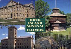 Rock Island Arsenal Army Base in Arsenal Island, IL ...