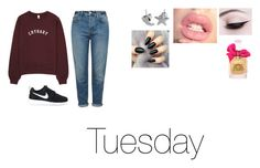 """Tuesday"" by isabellasmall on Polyvore featuring Topshop, NIKE and Juicy Couture"