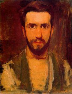 PIET MONDRIAN. Self Portrait, 1900, oil on canvas. Impressionism.