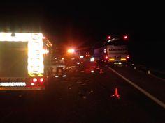 A52 pk 266 (Melón - Ourense). Accidente con atrapados. Houbo que excarcerar a unha persoa.  Xaneiro 2014 (1)