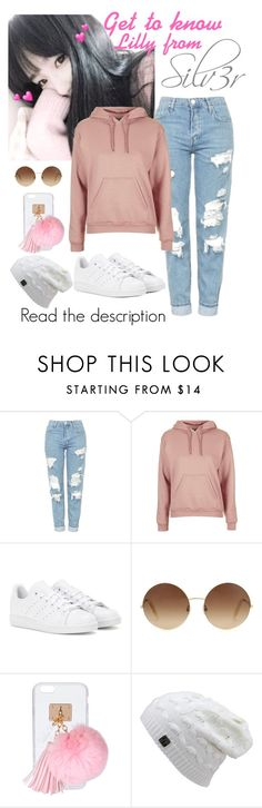 """-Get to know Lilly from Silv3r-"" by daddyslittlestprincess ❤ liked on Polyvore featuring Topshop, adidas, Victoria Beckham, Ashlyn'd and Silv3r"