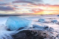 Melting Icebergs, Jokusarlon Volcanic Beach, South Iceland Iceland Landscape, Photography Workshops, Day For Night, Milky Way, Night Skies, Sunrise, Beach, Seaside, Sunrises