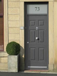 Rockdoor Colonial anthracite grey & etched top light