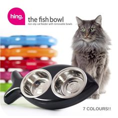 Hing Designs Cat Fish Bowl Blue ** See this great product. (This is an affiliate link) #CatToys