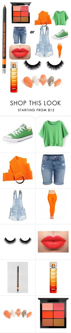 """Mikey TMNT halloween Costume"" by damaris-burell on Polyvore featuring Converse, H&M, Clio, HUGO, MAC Cosmetics, Halloween and TMNT"