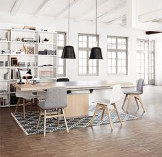 Bari extendable dining table