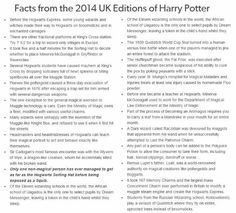 This is actually quite fascinating. Among others, I learned two facts that in fact make sense and I should've already known: there are more Kings Cross wizard platforms besides 9 3/4 and there are more schools than just the three from Goblet of Fire.
