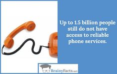 Technology Facts : Access to phone   did you know