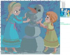 Elsa, Olaf & Anna
