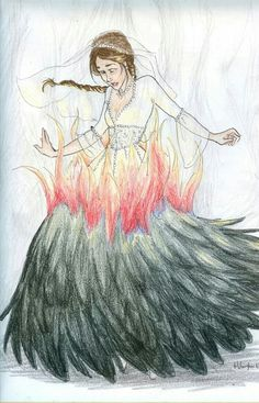 Katniss the girl on fire by Burdge Bug
