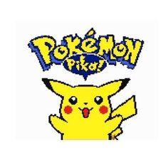 Pokemon pikachu cross stitch pattern 150 x 126 8 colours Palette: DMC  Includes: Cover page 12 Printable chart pages Symbol and colour key Dmc